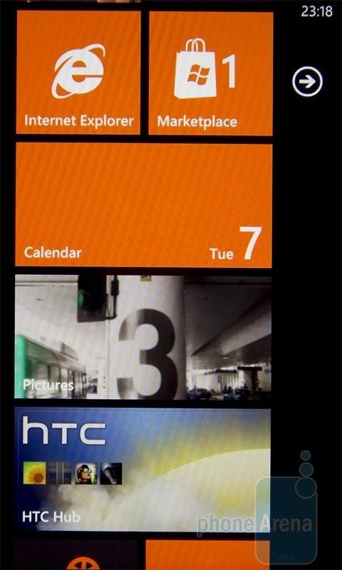 Интуитивный интерфейс HTC 7 Mozart