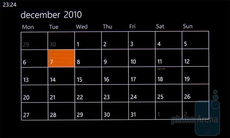 Календарь на HTC 7 Mozart
