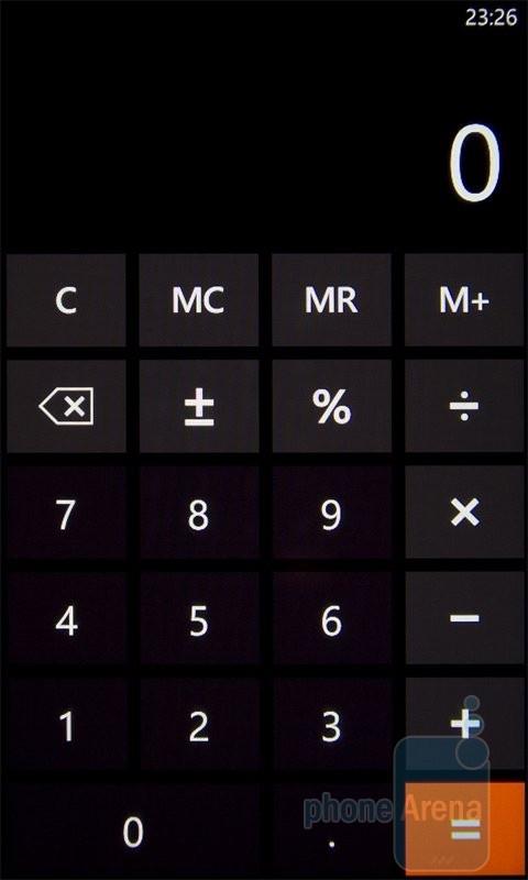 Калькулятор на HTC 7 Mozart