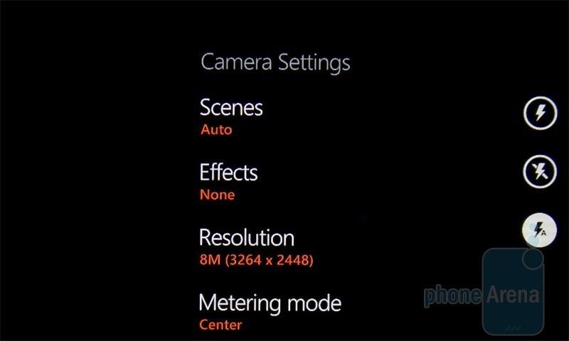 Интерфейс камеры HTC 7 Mozart
