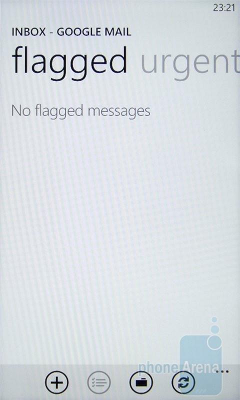 Email на HTC 7 Mozart