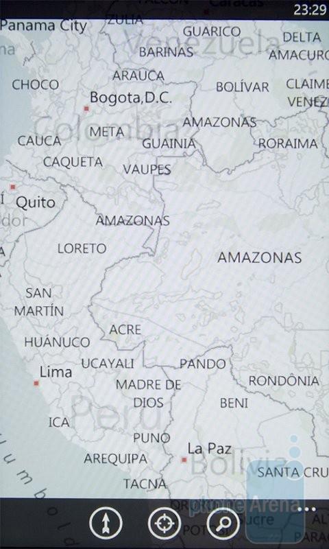 Bing Maps на HTC 7 Mozart