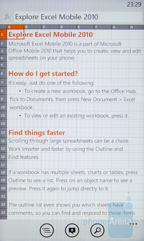 Office Hub на HTC 7 Mozart